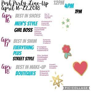 Shoes - April 16-22 Posh Party Line Up